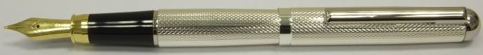MS518 Silver plated Fountain Pen, boxed.  (Medium)